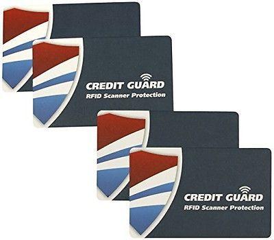 Credit Guard RFID Scanner Blocking Cards Set of 4