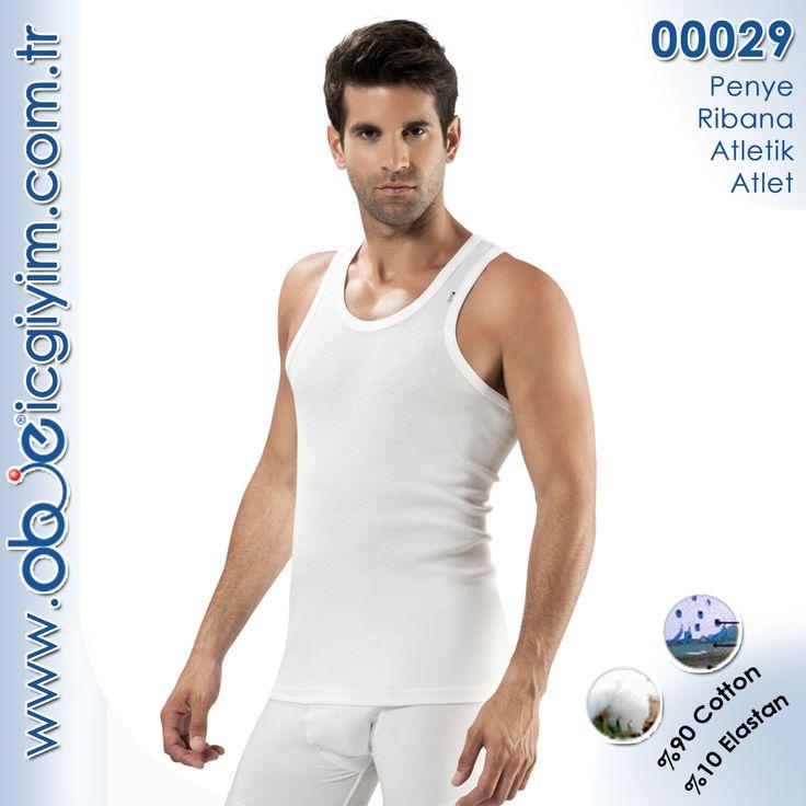 Penye Ribana Erkek Atletik Atlet (Ürün Kodu: 00029)
