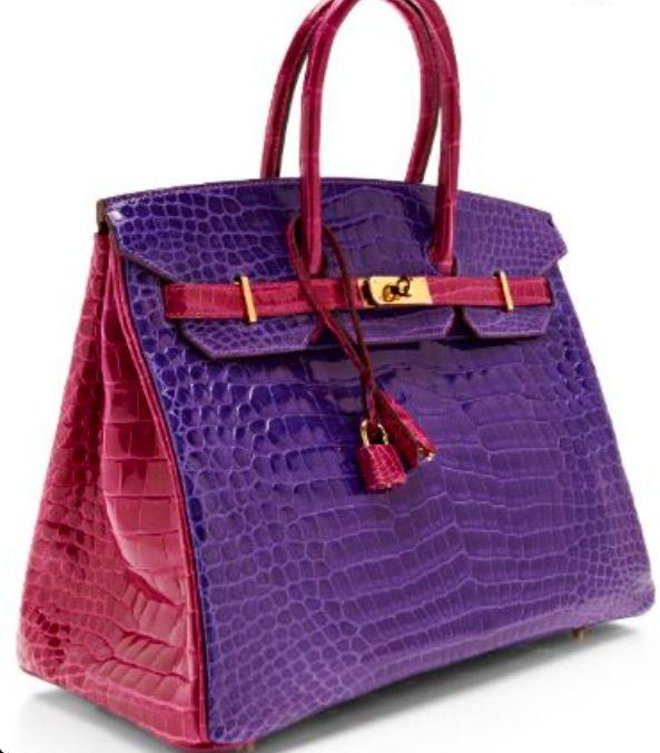 6b8fb4bbef ... handbag f6d1f 6886d  sweden hermes shiny porosus crocodile ultra violet  rose scheherazade horseshoe birkin by heritage auctions special collections