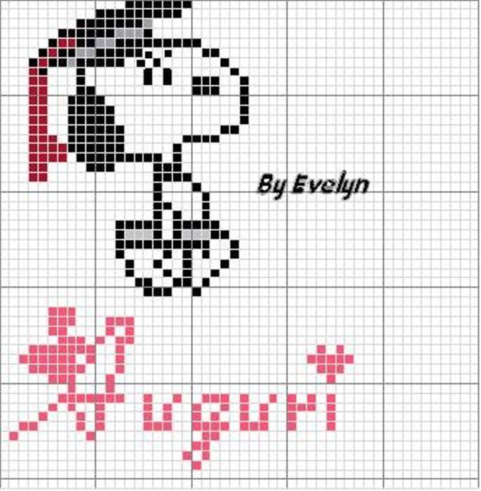 Schema punto croce Laurea snoopy