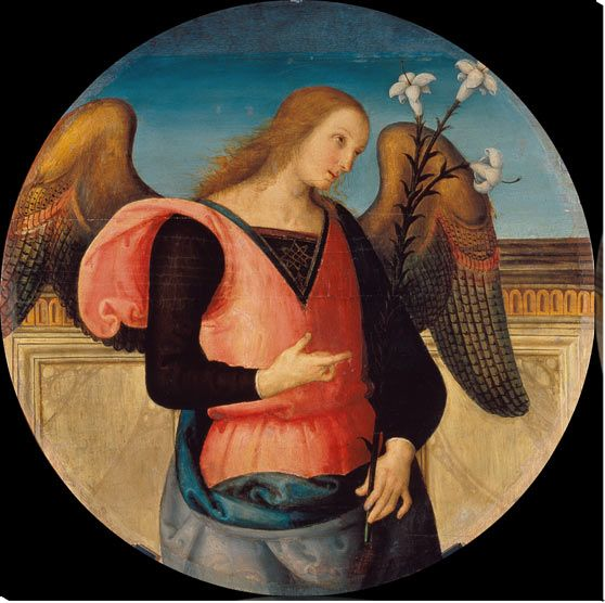Perugino / Angel of Annunciation / C15th - (Pierto di Cristoforo Vanucci):