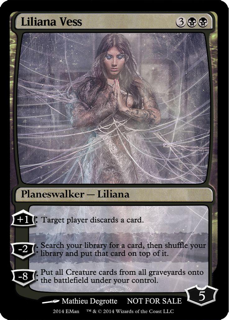 Liliana Vess Magic The Gathering Planeswalker Magic The Gathering Cards Magic The Gathering