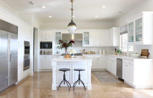 Kitchen Remodels With White Cabinets with Island #ModernKitchen #MinimalistKitchen #ModernInterior #MinimalistInterior