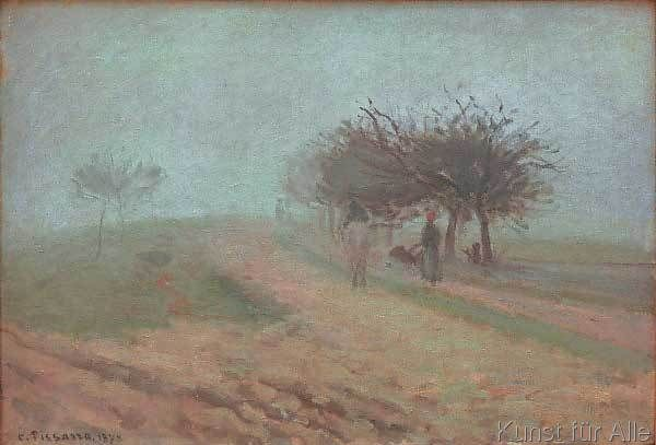 Camille Pissarro - Nebliger Morgen in Creil