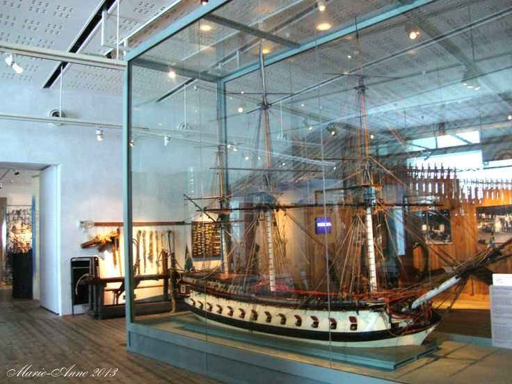 Karlskrona Marinmuseum Fartygsmodell