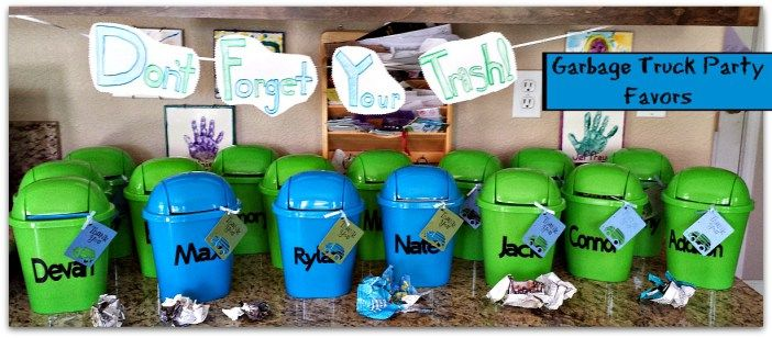 garbage truck birthday party favors                                                                                                                                                     More