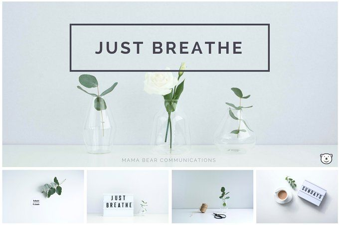 Styled Stock Photos | Just Breathe by mamabearcomms on @creativemarket