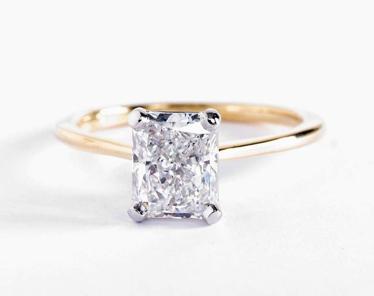1.7 Carat Radiant Diamond in the Petite Solitaire Engagement Ring   Blue Nile Engagement Rings
