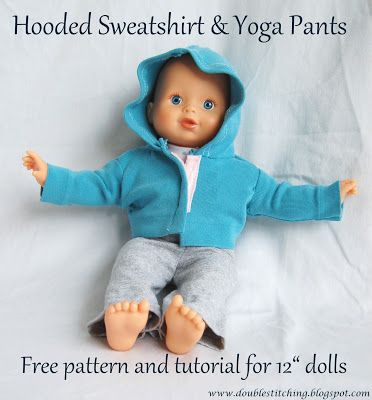 Nap Time Crafters: Dolly Sweatsuit Pattern with Double Stitching -Pattern and Tutorial