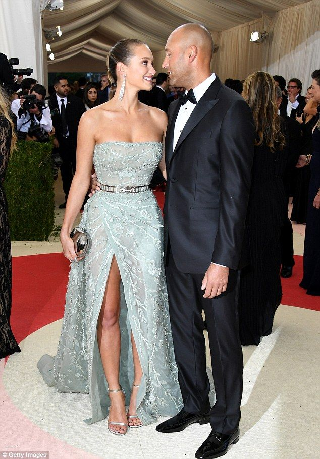The look of love:Hannah Davis and Derek Jeter are a match made in sporting heaven, as ill...