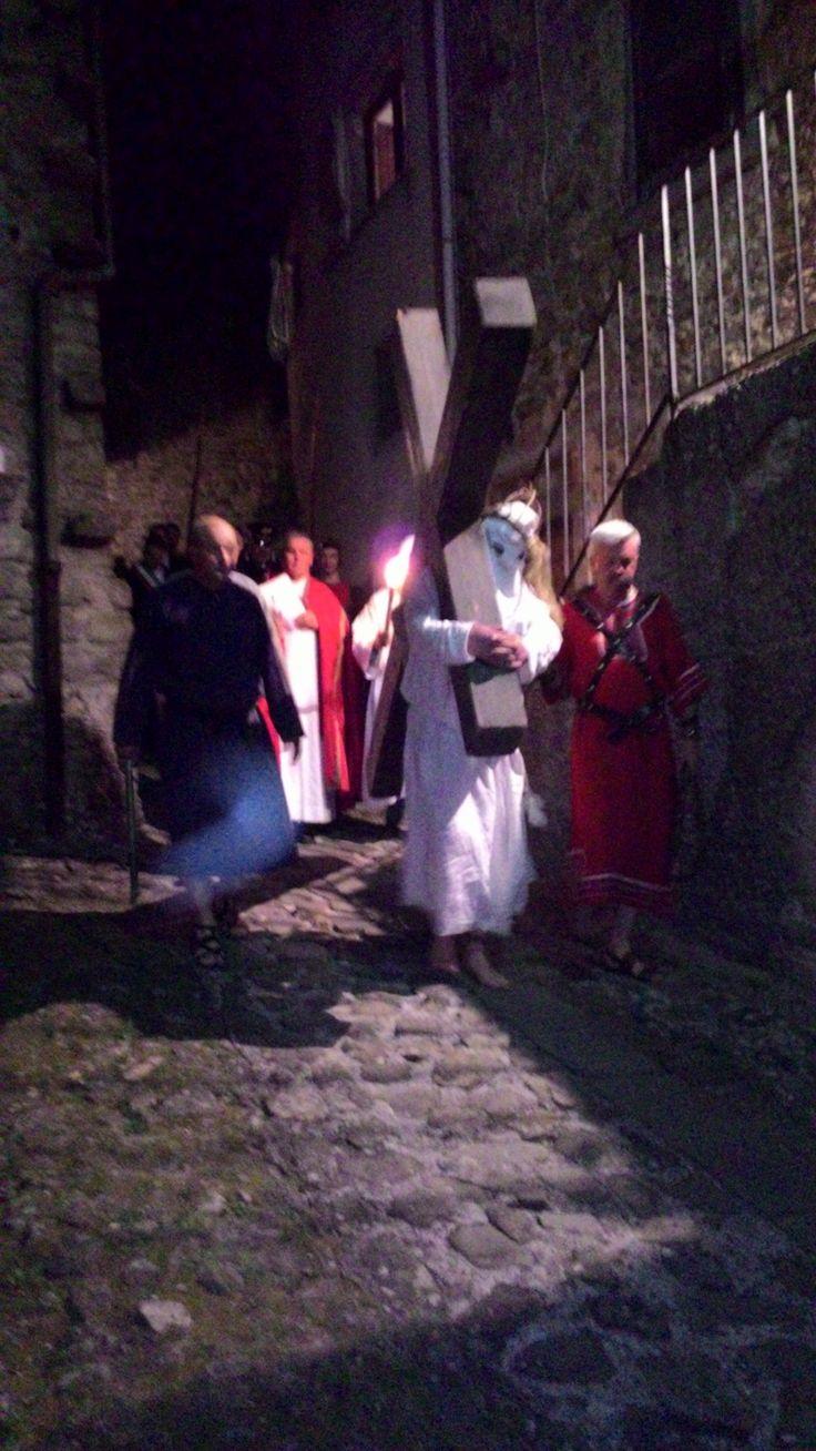 """Castiglione Garfagnana . Toscana .Processione de """" I Crocioni """""""