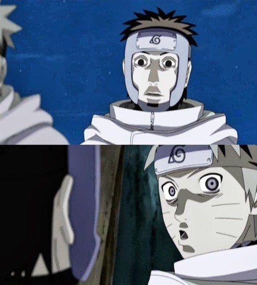Yamato & Naruto - keep practicing your Fear Face Naruto ...