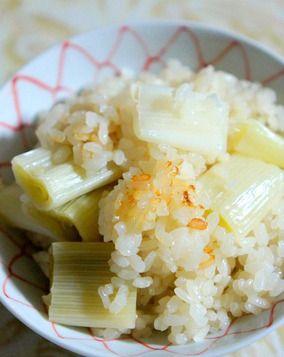 お葱だけの炊き込みご飯ですが・・・・美味しい~~♫ レシピブログ