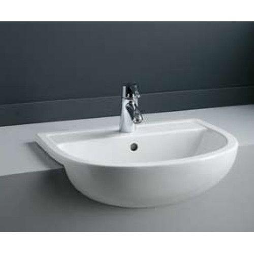 RAK Bathware Compact 55cm Semi-Recessed Basin