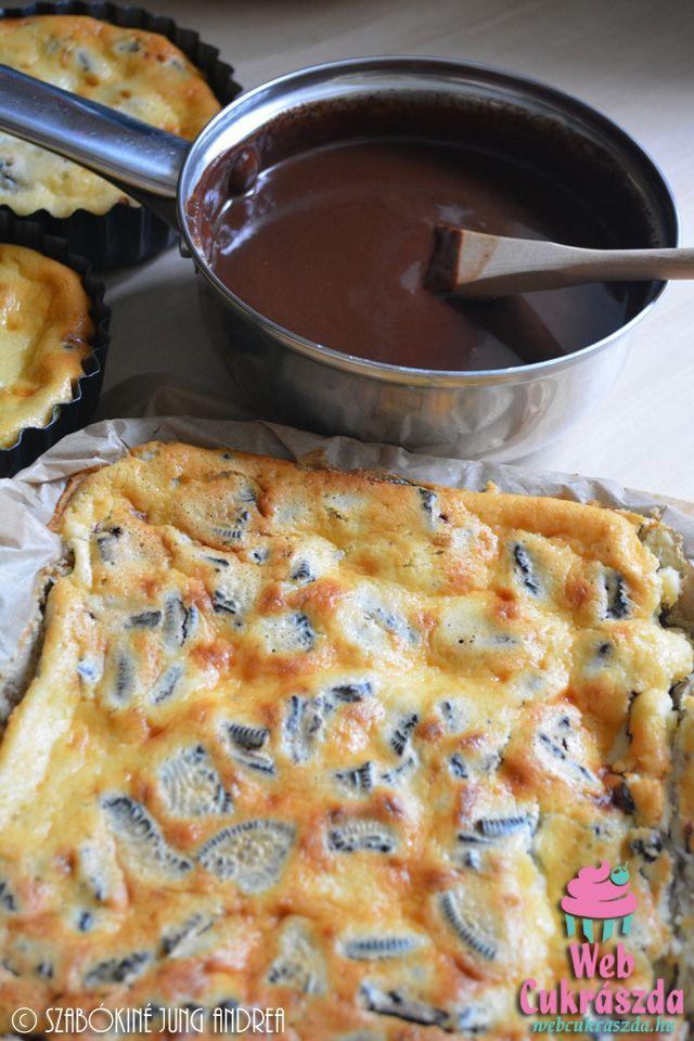 Oreo kekszes sajttorta szelet