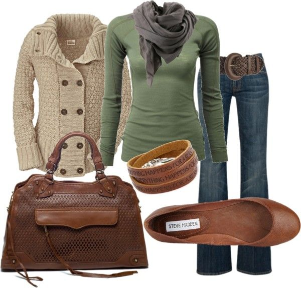 Fall colors: Love Fall, Fall Clothing, Colors Combos, Green And Brown, Fall Wint, Fall Looks, Fall Outfits, Fall Sweaters, Fall Fashion