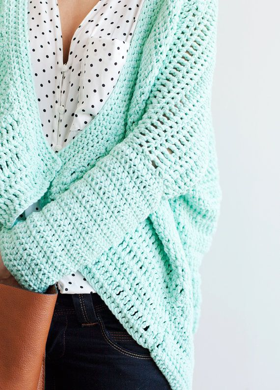 Mint kimono jacket crochet PDF pattern for by ElCostureroPattern