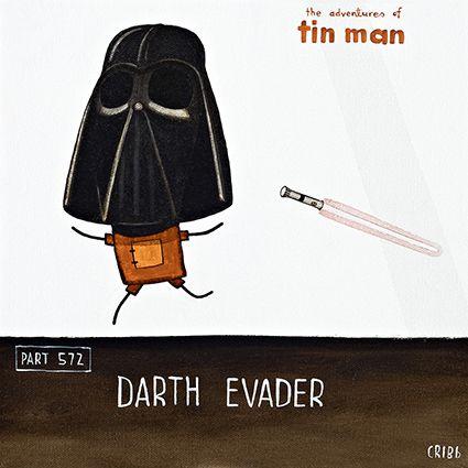 Tin Man plays Darth Evader - by Tony Cribb #Tin Man. Artprints available from www.imagevault.co.nz