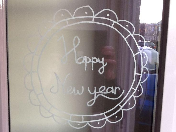 Raamtekening nieuwjaar