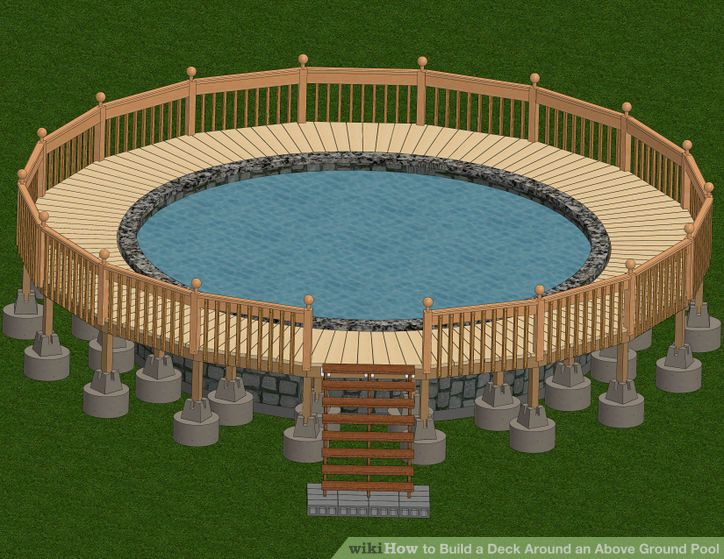 Diy Above Ground Pool Landscaping build a deck around an above ground pool | pool steps, ground