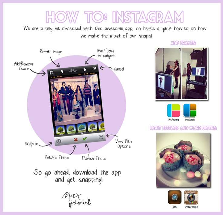 Max Pictorial... How to: Instagram