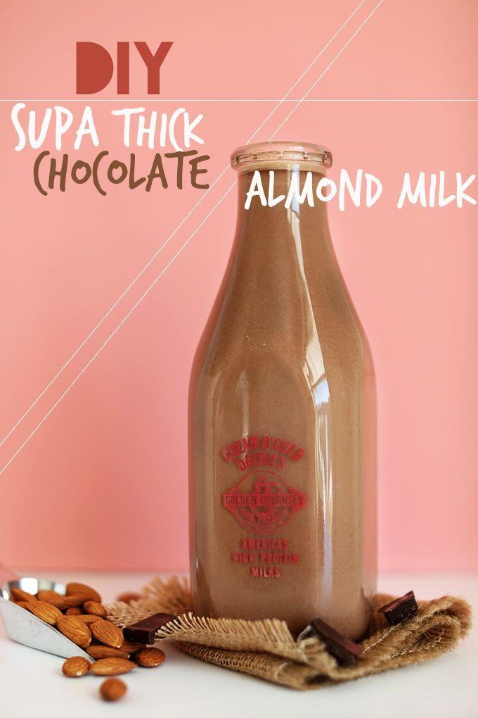 Easy, Super Thick Chocolate Almond Milk | minimalistbaker.com @Dana Shultz | Minimalist Baker