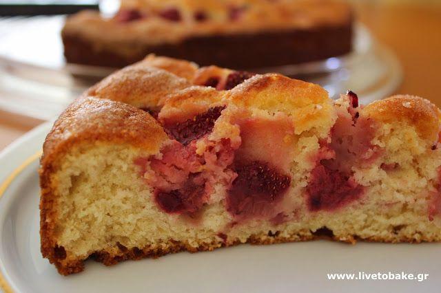 Cake με φράουλες | Live To Bake