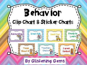 Behavior Clip Chart and Sticker Charts - Classroom decoration in Circus theme.This package includes a circus themed behavior clip chart that can be used to help promote positive behavior in your class. Simply write students names on pegs and then clip onto the chart, saying ready to learn.