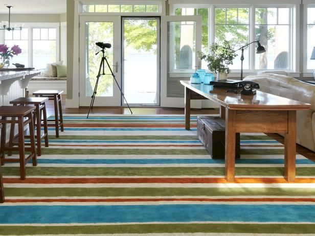 8 Things You Didn't Know You Could Paint : Home Improvement : DIY Network - painted carpetPainting Carpets, Ideas, Budget Decor, Area Rugs, Painting Rugs, Living Room, Carpets Remnant, Diy Rugs, Diy Network