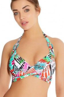Freya Mardi Gras Carnival Underwired Banded Halter Bikini Top