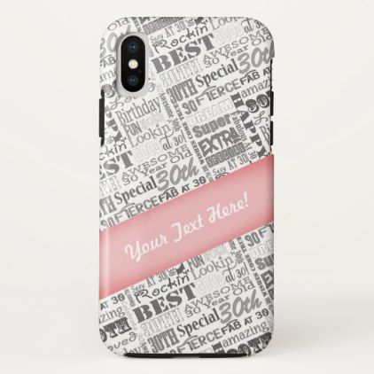 Special 30th Birthday Party Personalized Gifts iPhone X Case - giftidea gift present idea number thirty thirtieth bday birthday 30thbirthday party anniversary 30th