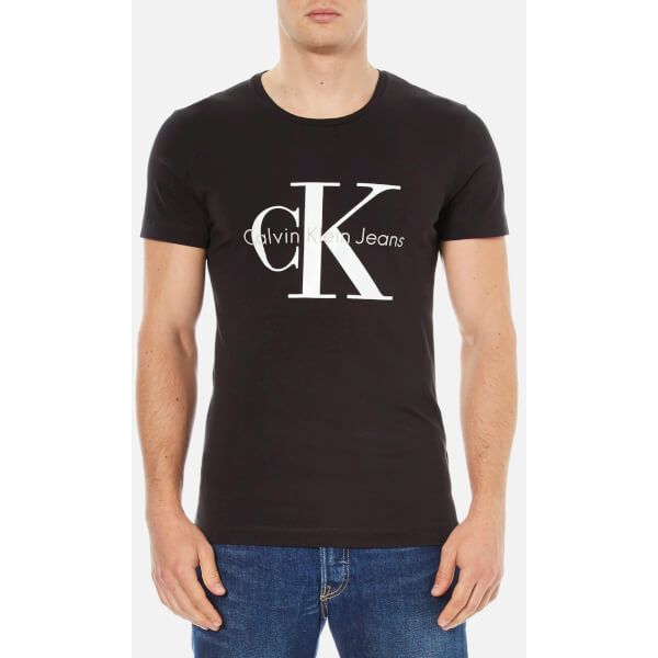 Calvin Klein Men's 90's Re-Issue T-Shirt (74 CAD) ❤ liked on Polyvore featuring men's fashion, men's clothing, men's shirts, men's t-shirts, black, men's regular fit shirts, mens t shirts, mens cotton shirts, mens short sleeve t shirts and j crew mens shirts