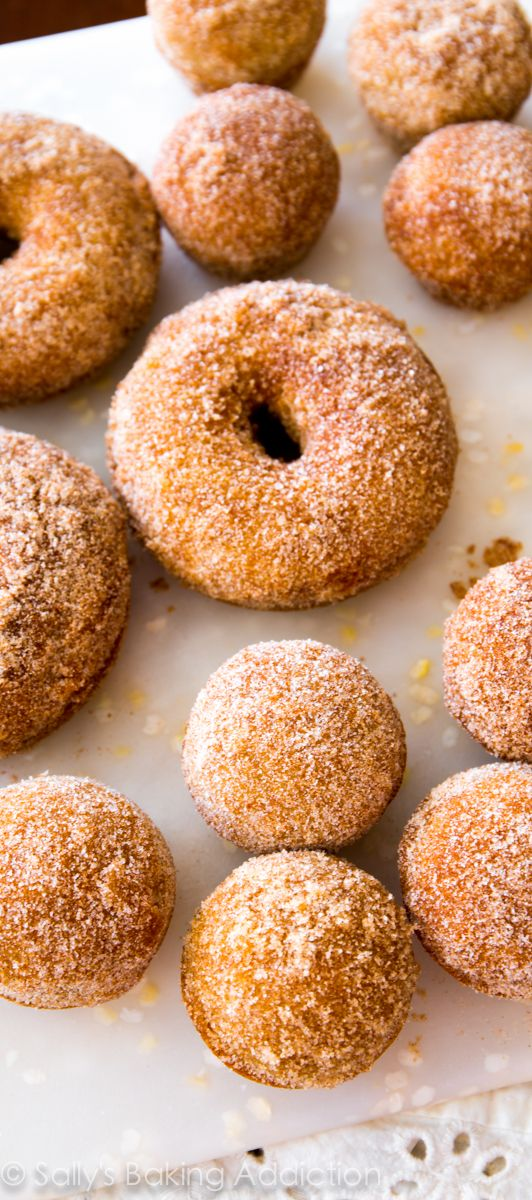 Spiced Apple Cider Donuts - these easy donuts are baked, not fried ...