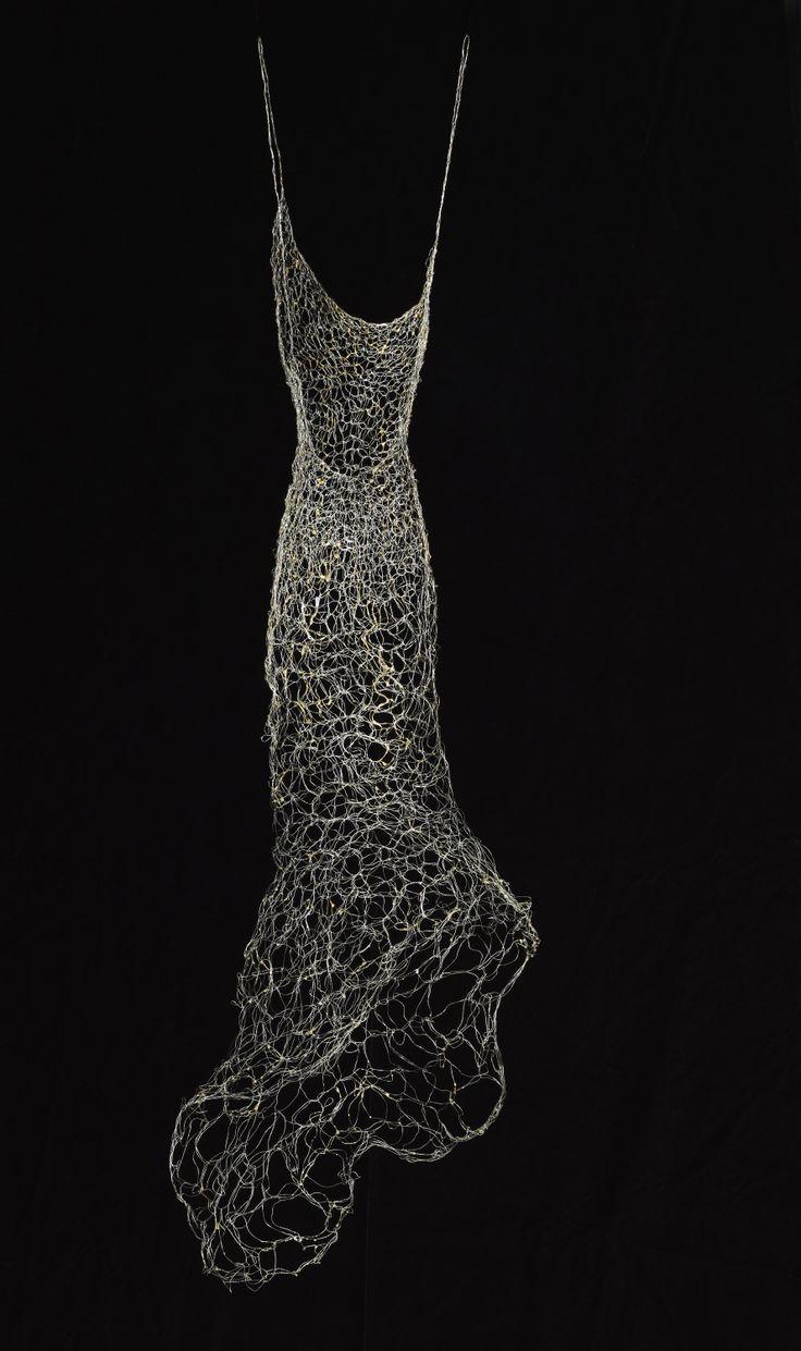 """""""Aurum Argentum"""" Wire Dress Sculpture"""