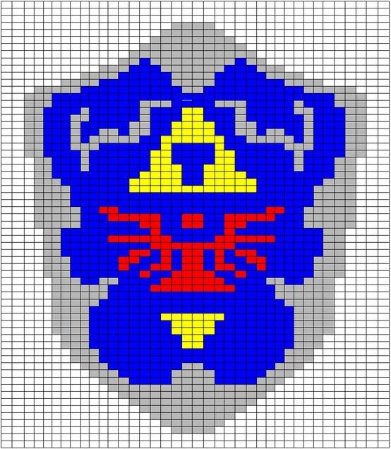 Zelda Scarf Knitting Pattern : Hylian shield crochet pattern graph legendofzelda link