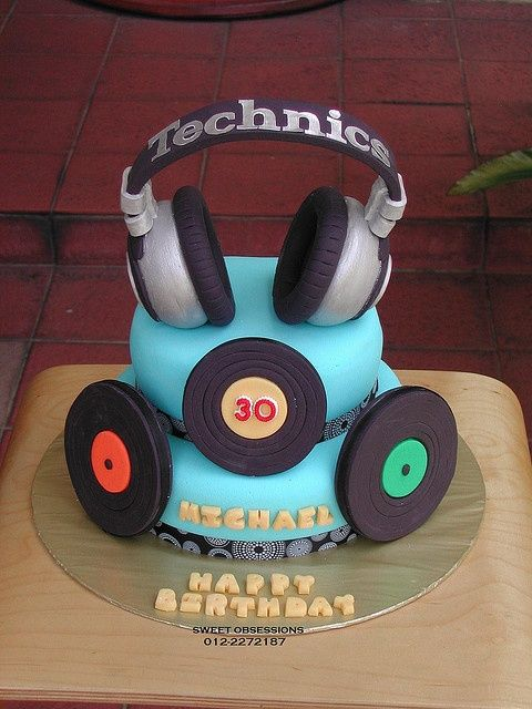 decorar torta dj - Google Search