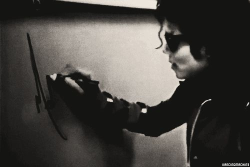 """Michael Jackson in: """"The Hand Writing On The Wall"""""""