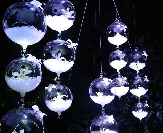 Decoración burbujas florales