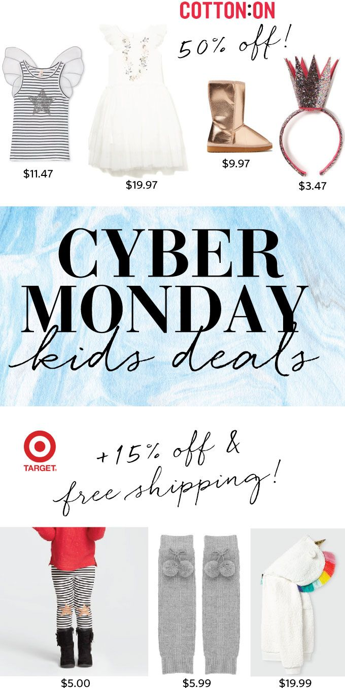 Ok ready set go, here are some of my favorite kids finds on sale for Cyber Monday. The new line Cat and Jack at Target is so spot on, and right now Target is having 15% off the line + free shipping. I mean how can you resist this unicorn rainbow hoodie, a tutu skirt …