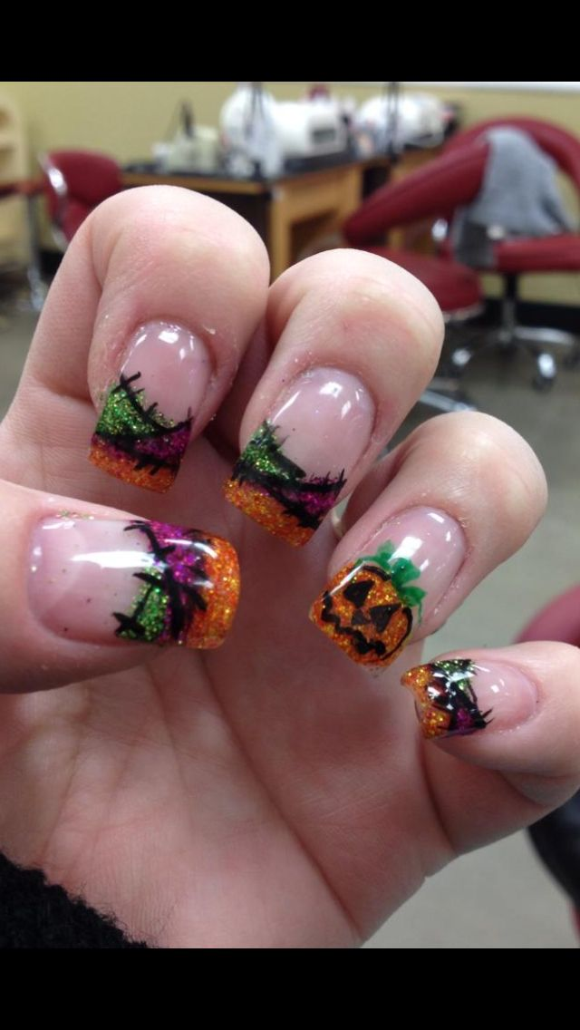 221 best images about Halloween nail art on Pinterest