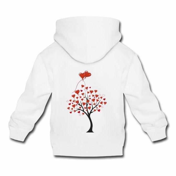 un albero stilizzato con tantissimi palloncini a forma di cuore un decoro carino da regalare agli innamorati