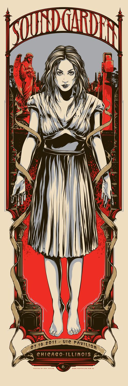 Amazing Gig Poster Designs of Ken Taylor - Soundgarden / Chicago