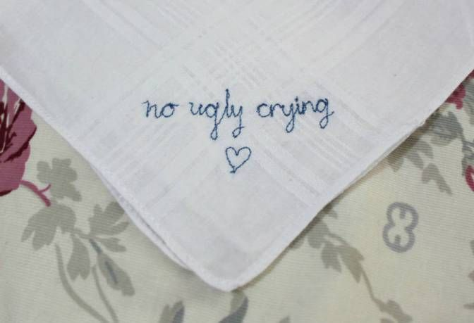 No Ugly Crying...because who wants that in the wedding photos?