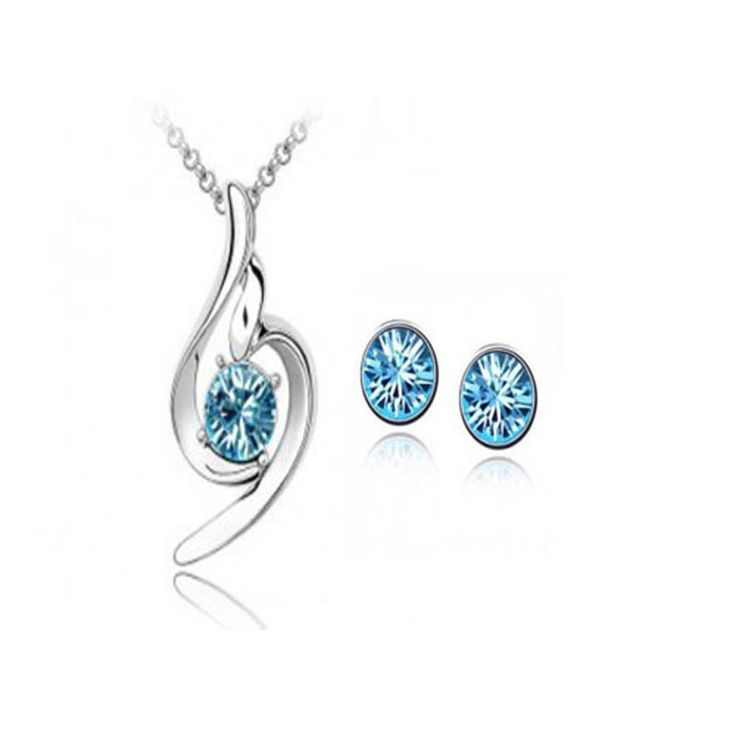 heart jewelry set necklaces pendants earrings