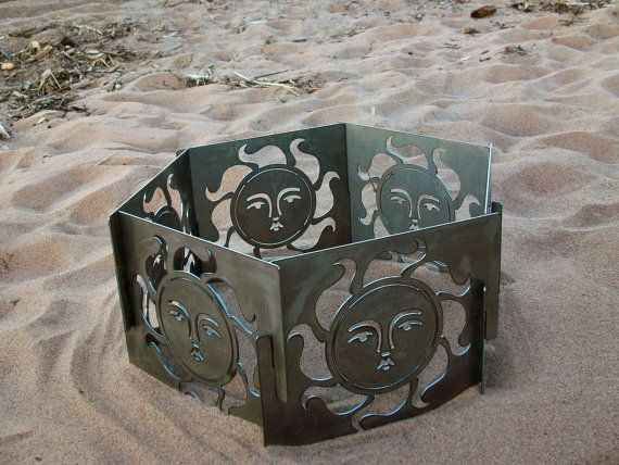 Decorative Portable Metal Fire Pit  Sun by CopperTreeDesign, $240.00