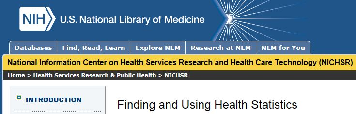Online course on finding and using health statistics.