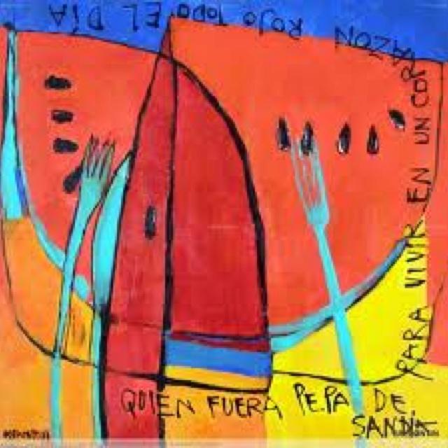 Quien fuera sandia pa vivir en un corazon rojo toiiiito el dia  fruta; Balbontin; colores; me encanta!!!!