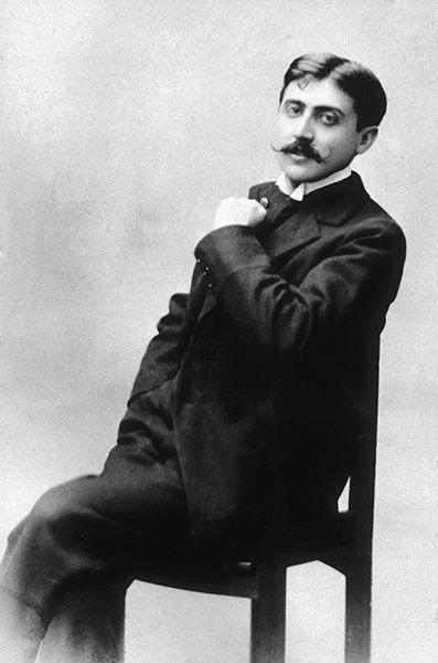 "Literatura francesa: retrato do escritor francês Valentin Louis Georges Eugène MARCEL PROUST (1871 – 1922), autor da grande obra ""Em busca do tempo perdido"""