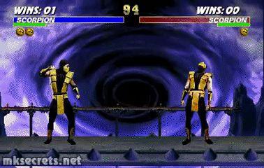 Scorpion Fatality I - Ultimate Mortal Kombat 3 (GIF)