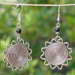 @Overstock - Jewelry is crafted of colored beads on silver plated sun shapesEarrings set you apart as a supporter of opportunity in the slums of Kenya where it is scarceJedando Modern Handicraftshttp://www.overstock.com/Worldstock-Fair-Trade/Silver-Electroplated-African-Sun-Earrings-Kenya/4349569/product.html?CID=214117 $19.99